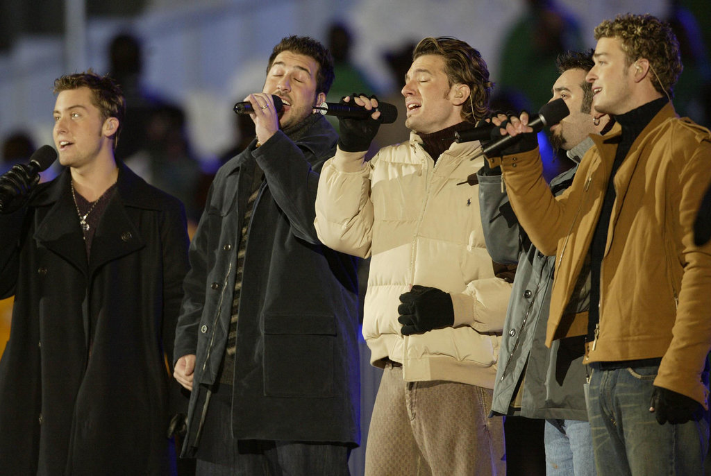 And the guys of *NSYNC showed off their harmonies.