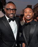 Idris Elba and Michael B. Jordan made a handsome pair.