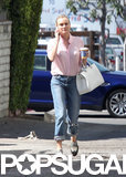 Diane Kruger kept it casual for a Sunday stroll through West Hollywood.