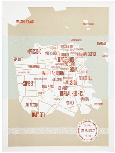 These Are Things 'Cities' Wall Art Print