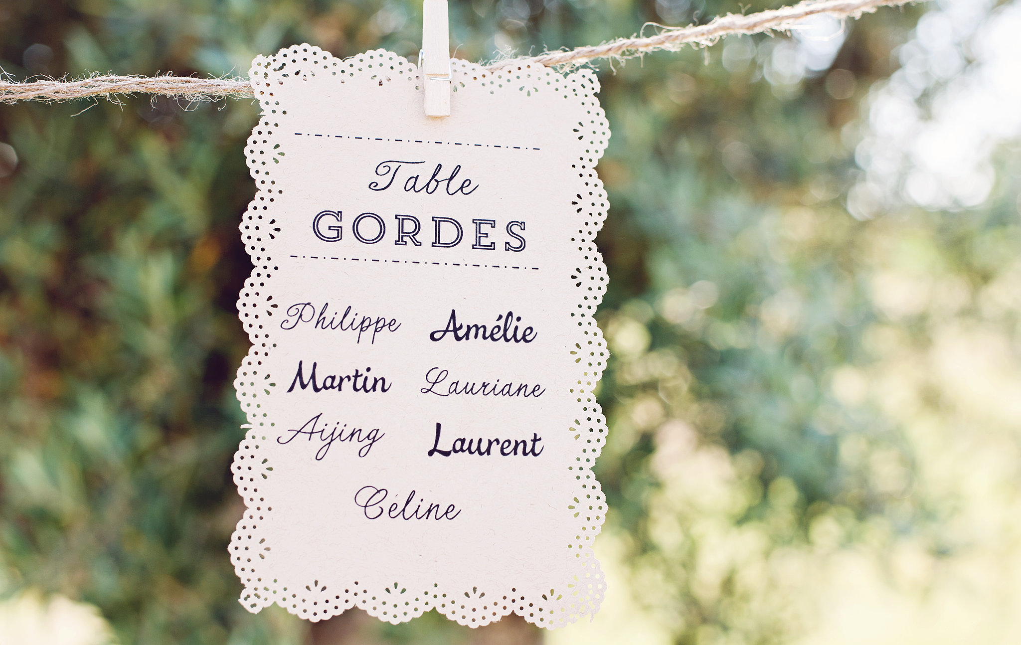 Table Assignment Card