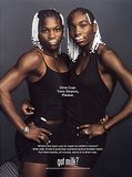 "Venus Williams paired up with her fellow tennis-star sister, Serena Williams, for a ""Got Milk?"" ad."