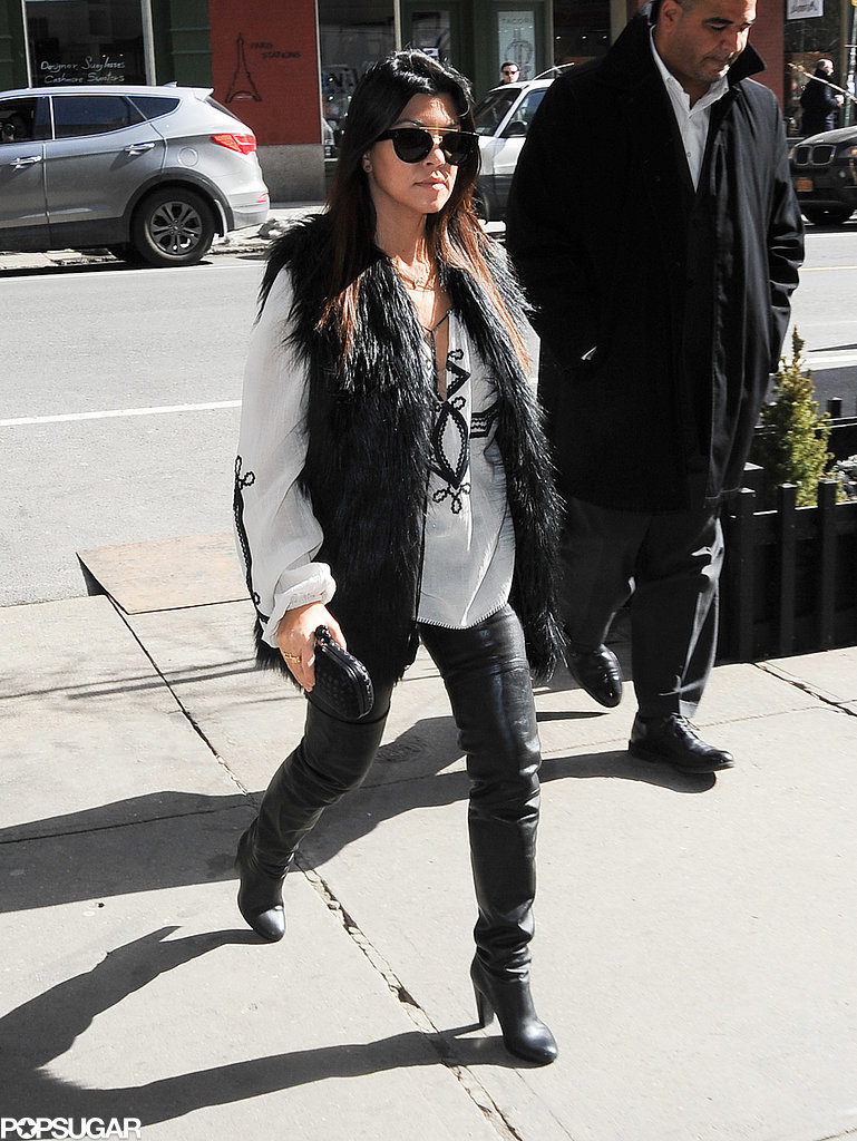 Kourtney joined Kim and Kris for lunch.