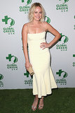 Malin Akerman wowed in a pale yellow dress at the Global Green event on Wednesday.