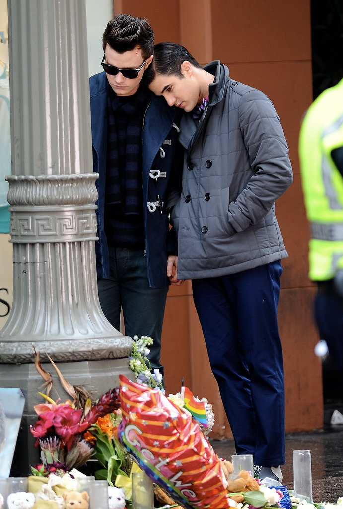 Spoiler Alert! Glee Films an Emotional Candlelight Vigil For . . .