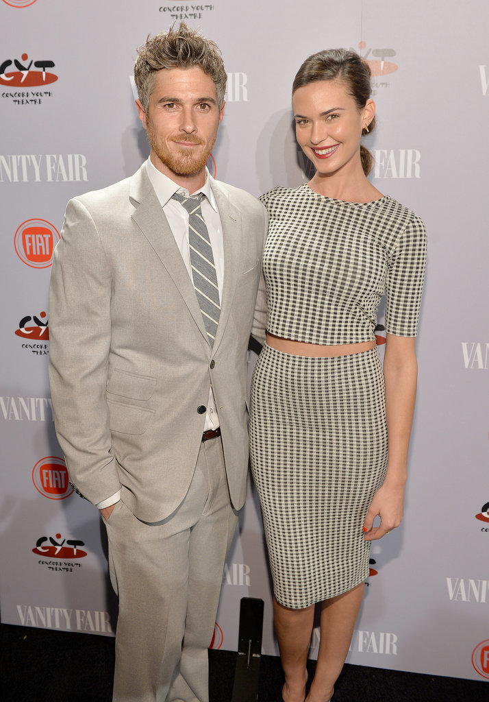 Dave Annable and his wife, Odette, matched in stripes.