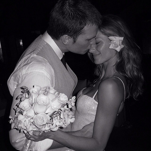Gisele Bunchden and Tom Brady Wedding Photo