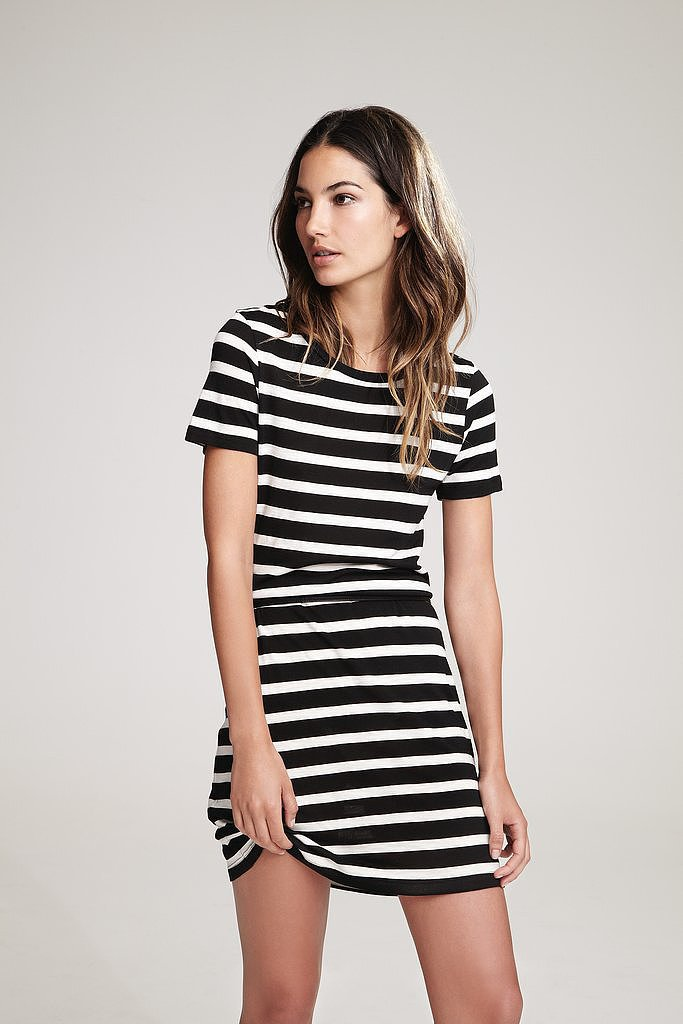 Velvet Anna Stripe T-Shirt Dress