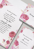 "Inspired by Sleeping Beauty, this Aurora ""Briar Rose"" stationery features pink and red roses."
