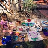 Stella McDermott got crafty outdoors. Source: Instagram user torianddean