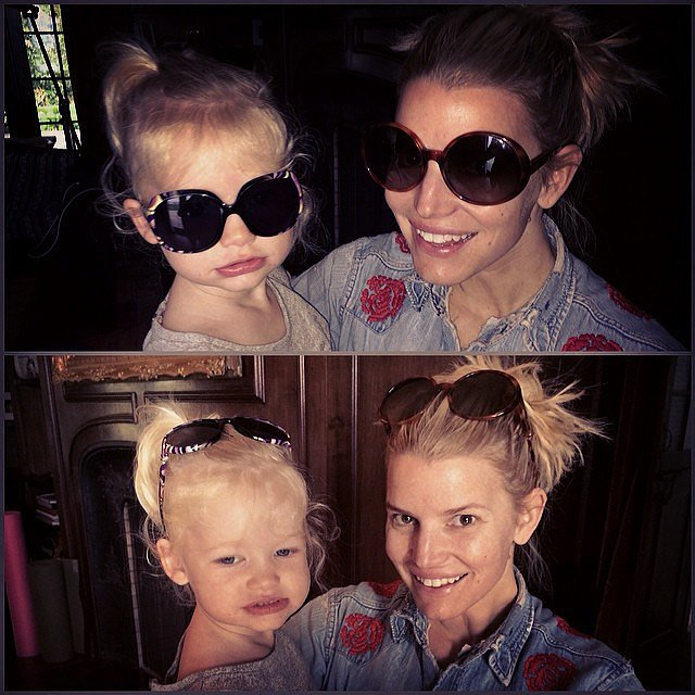 Jessica Simpson and Maxwell Johnson had a little selfie fun. Source: Instagram user jessicasimpson