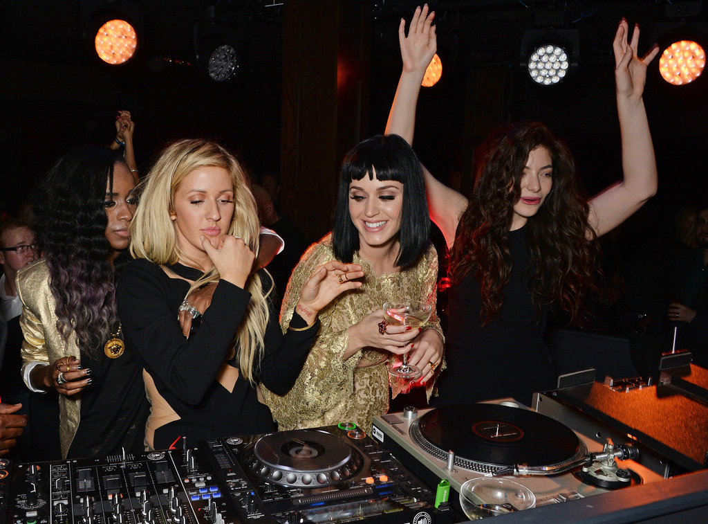 Ellie Goulding, Katy Perry, and Lorde DJed together at a BAFTAs afterparty.