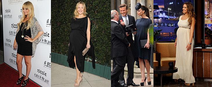 Pregnant Celebrities in Heels!