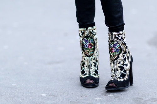 Nobody makes a statement bootie quite like Balmain.
