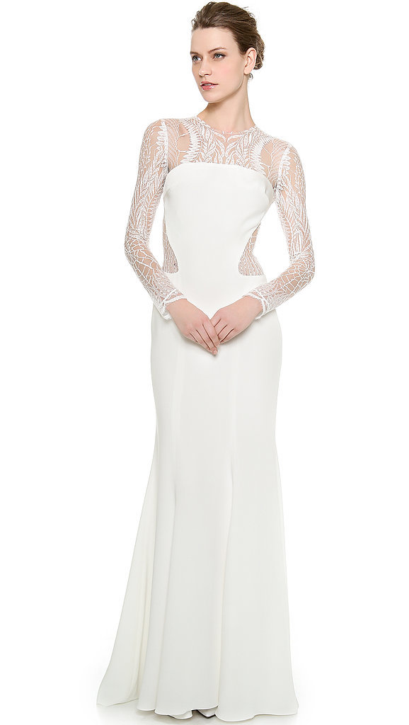 Monique Lhuillier Halle Long-Sleeve Sheath Gown ($3,990)