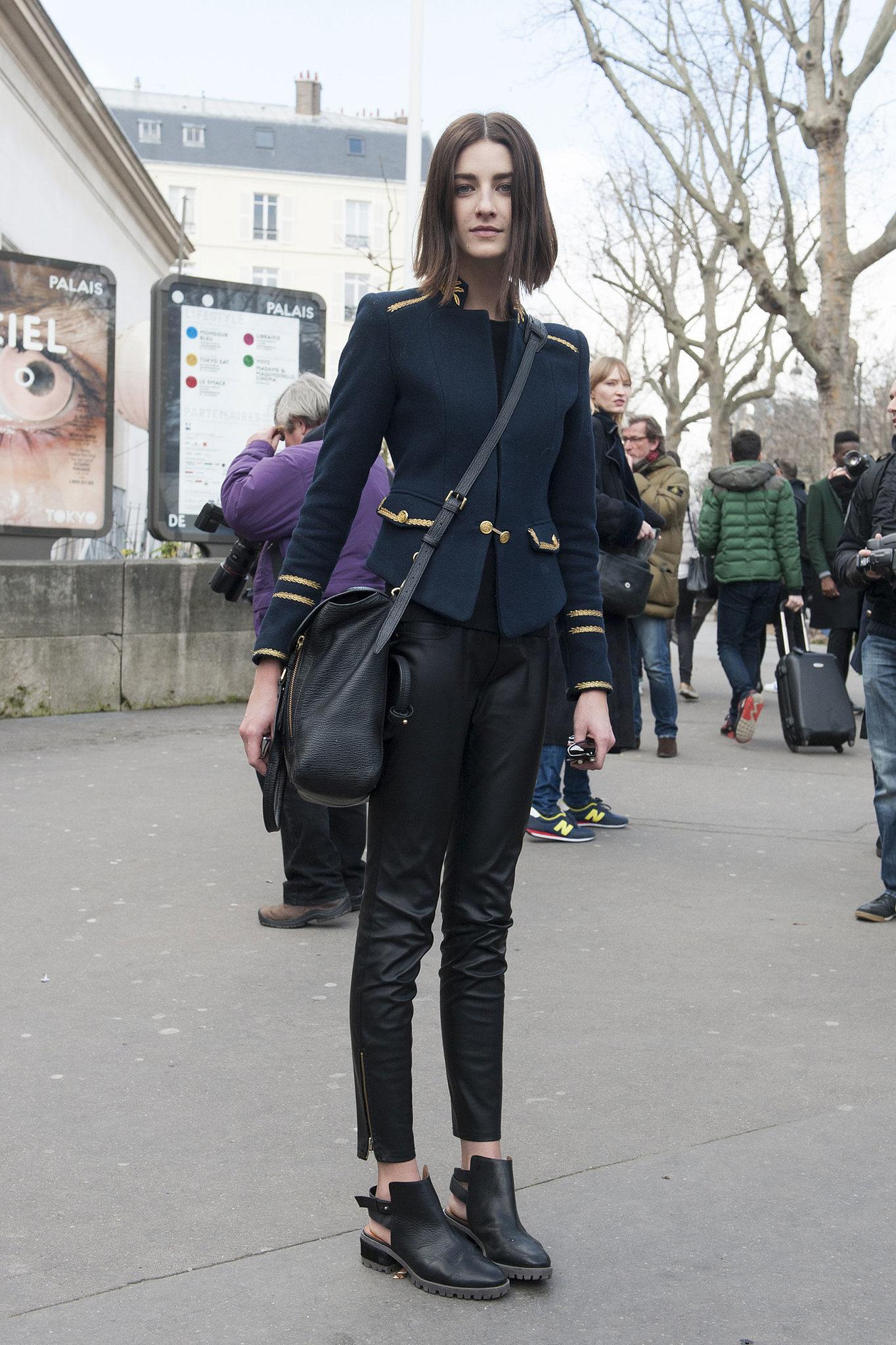Pfw Model Street Style Day Three It 39 S A Model Takeover At Paris Fashion Week Popsugar Fashion
