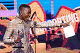 Lupita Nyong'o took the Spirit Awards stage after she won the best supporting female award.