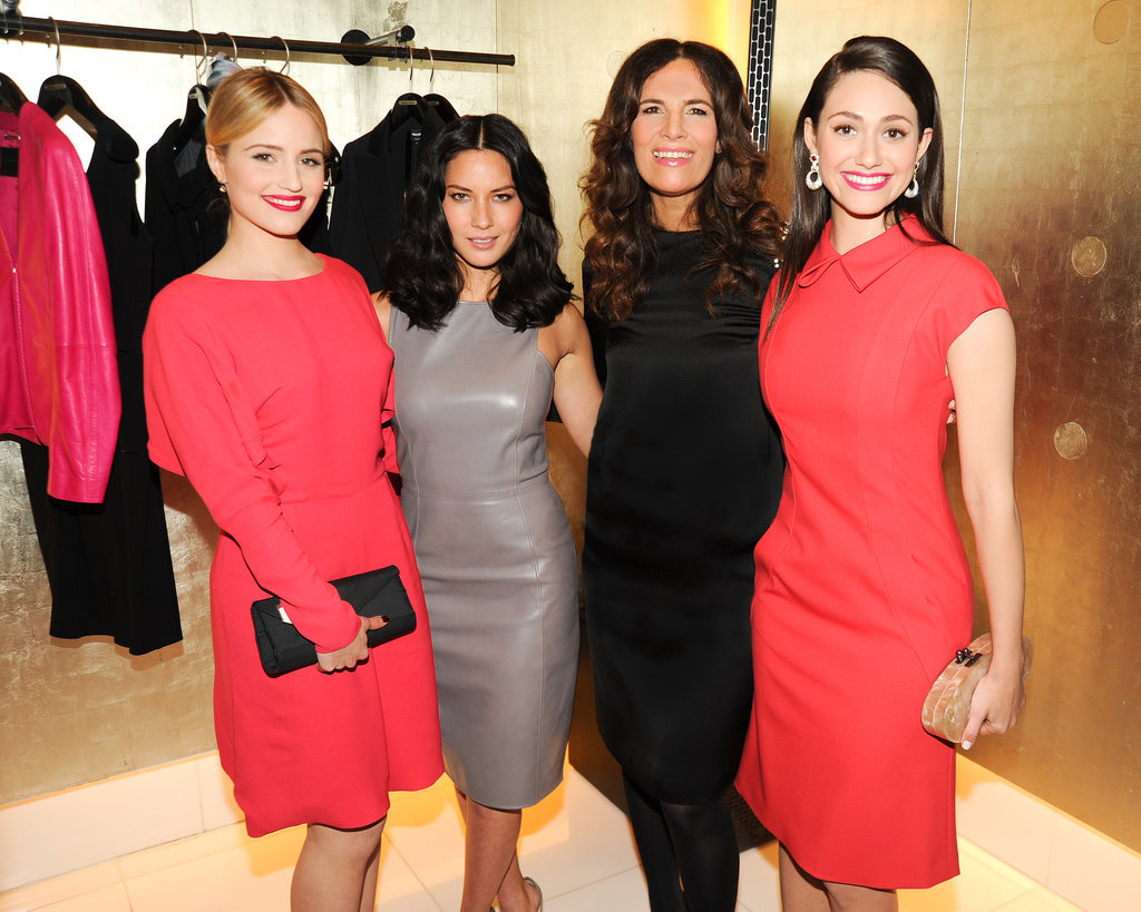 Dianna Agron, Olivia Munn, Roberta Armani, and Emmy Rossum brought a high dose of girl power to the Giorgio Armani event on Friday.