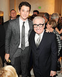 Miles Teller buddied up with Martin Scorsese at Giorgio Armani's bash on Friday.
