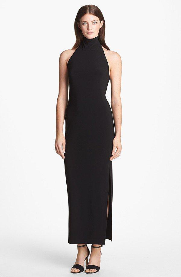 Kamlikulture Black Turtleneck Jersey Gown ($92)