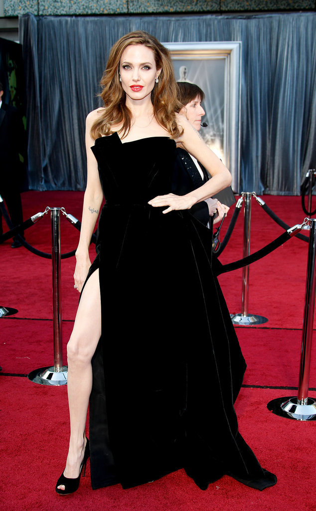 Angelina at the 2012 Oscars