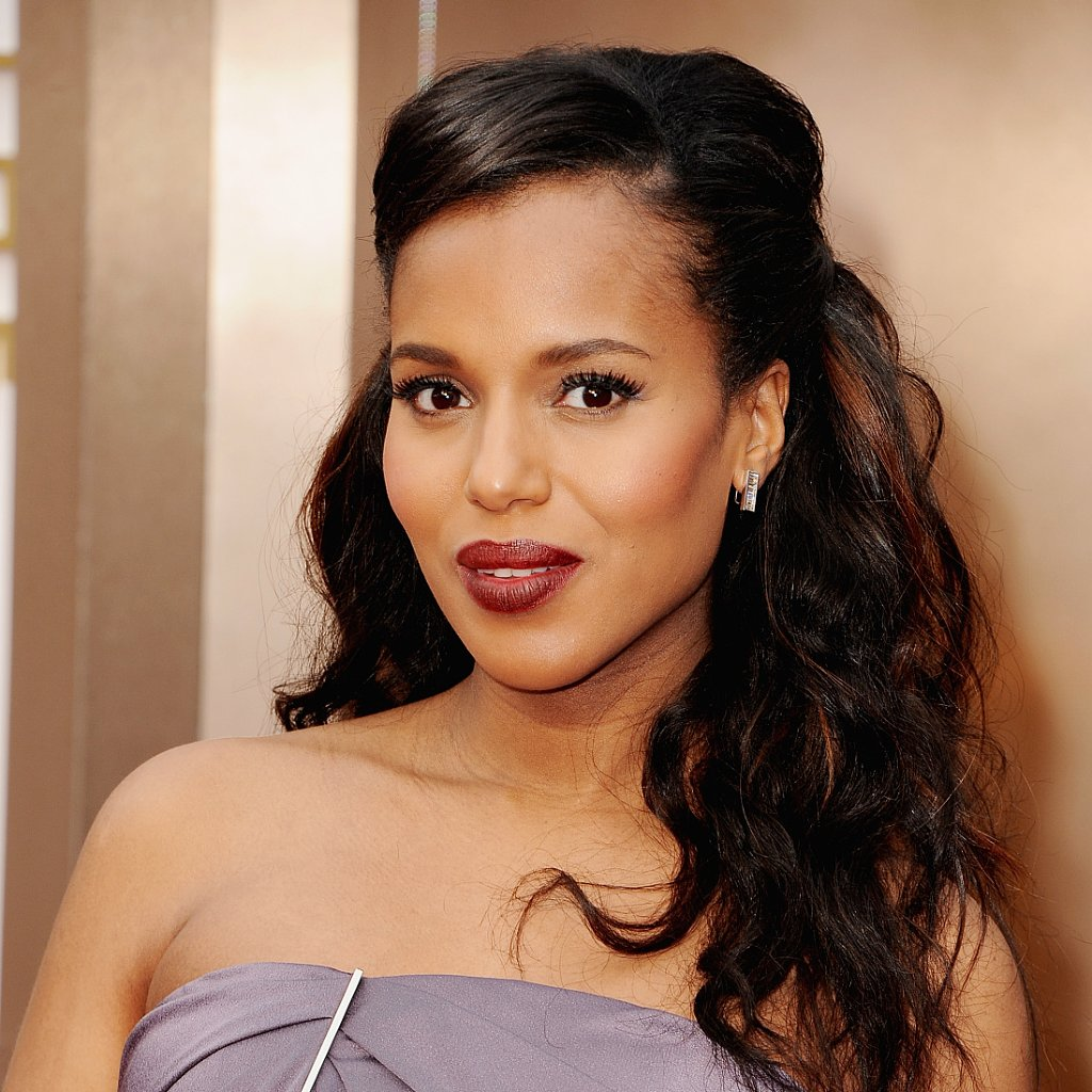 Kerry Washington Hair and Makeup at Oscars 2014
