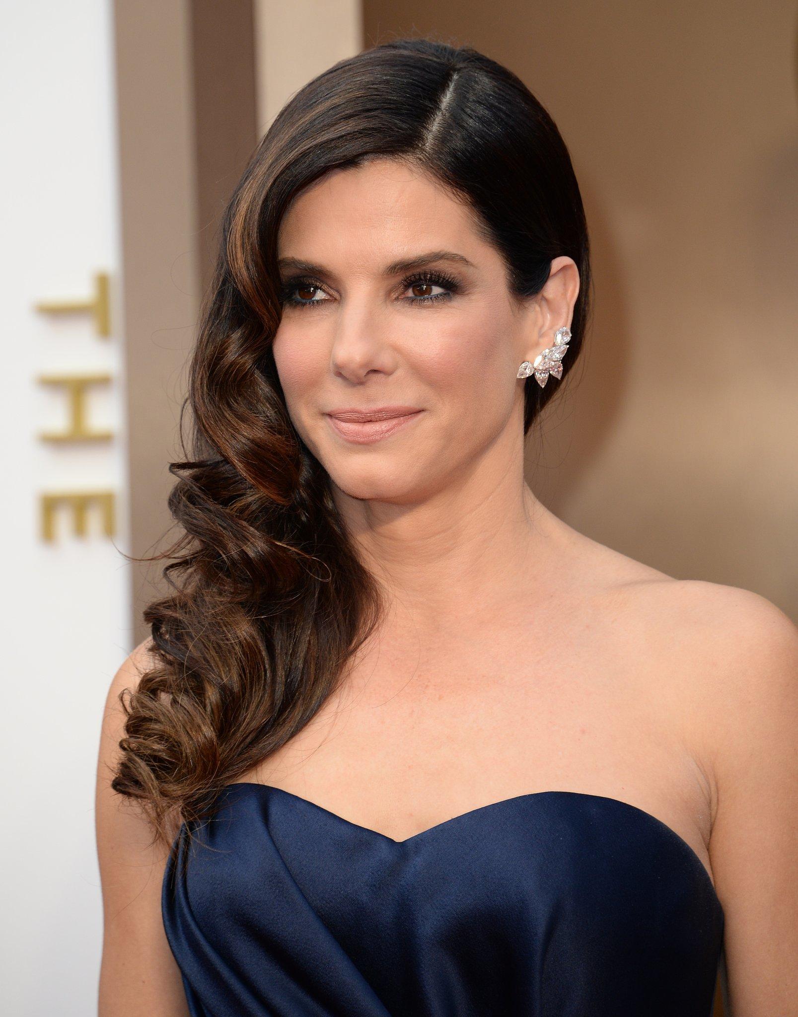 Sandra Bullock Hair and Makeup at Oscars 2014   POPSUGAR ... Sandra Bullock