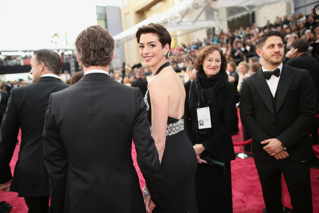 Anne Hathaway at the 2014 Oscars.