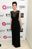 True Detective star Alexandra Daddario looked glam in black.
