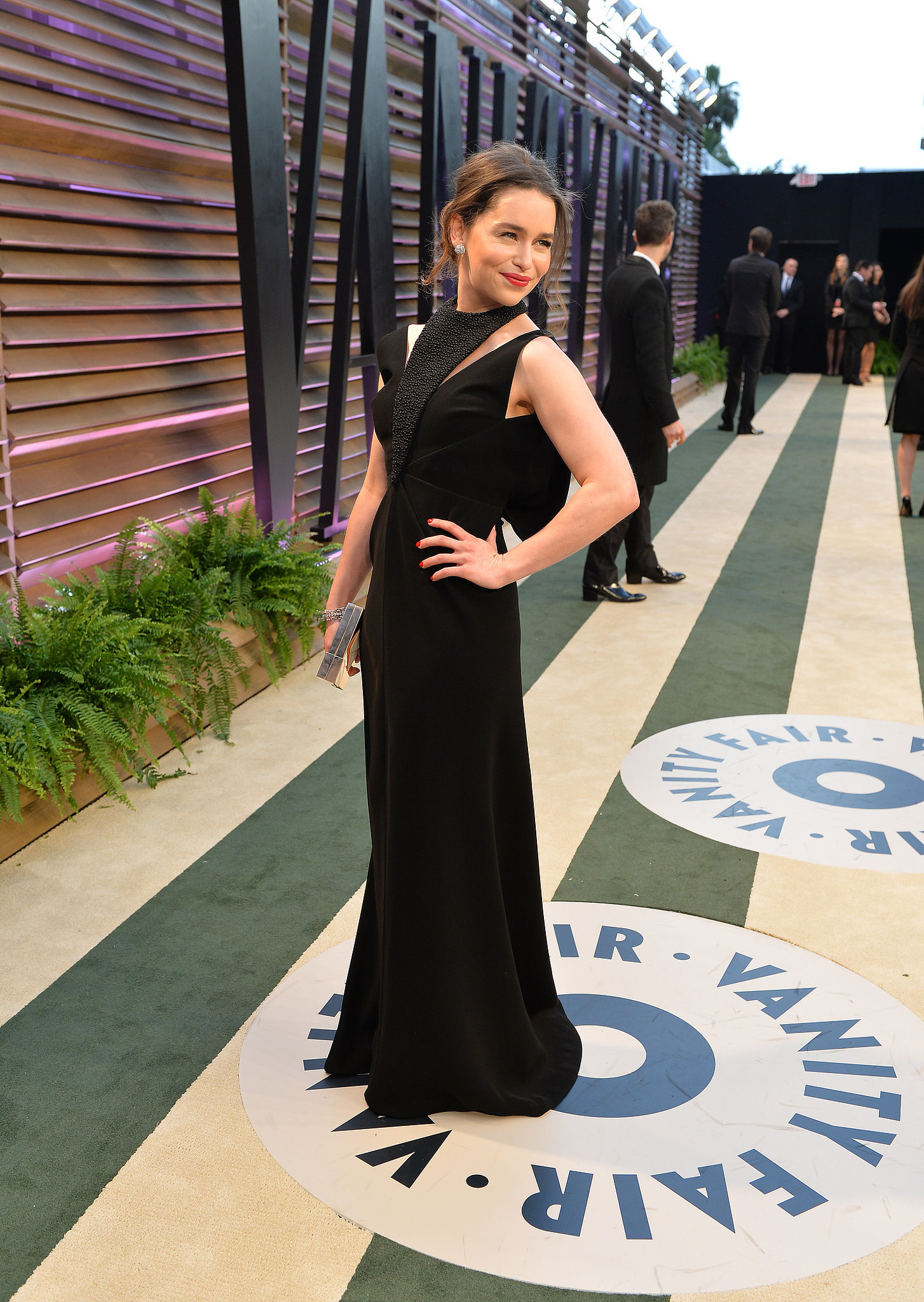 Game of Thrones star Emilia Clarke struck a pose.