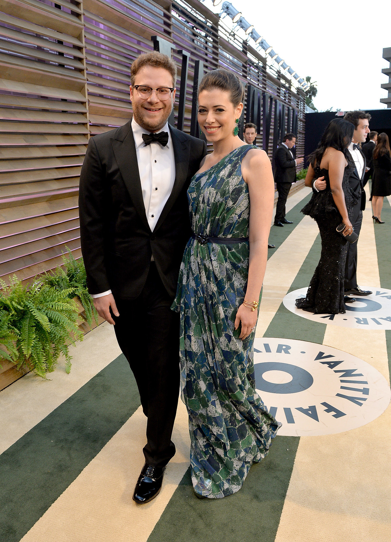 Seth Rogen showed up with his wife, Lauren Miller.