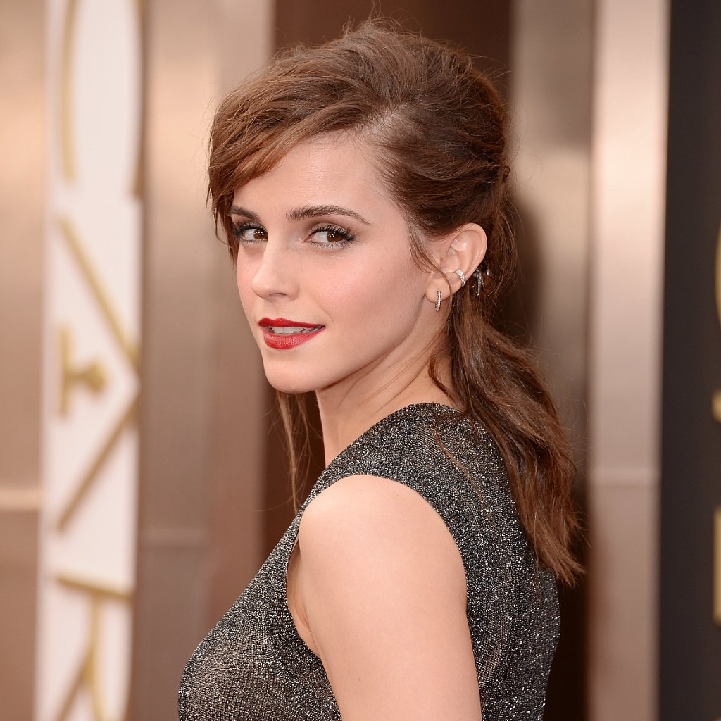 Emma Watson Hair and Makeup at Oscars 2014