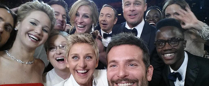 "Jennifer Lawrence Wanted Someone to ""Drop a Boob"" During the Oscars Selfie"