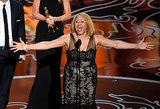 Darlene Love sang as she accepted her award for 20 Feet From Stardom.