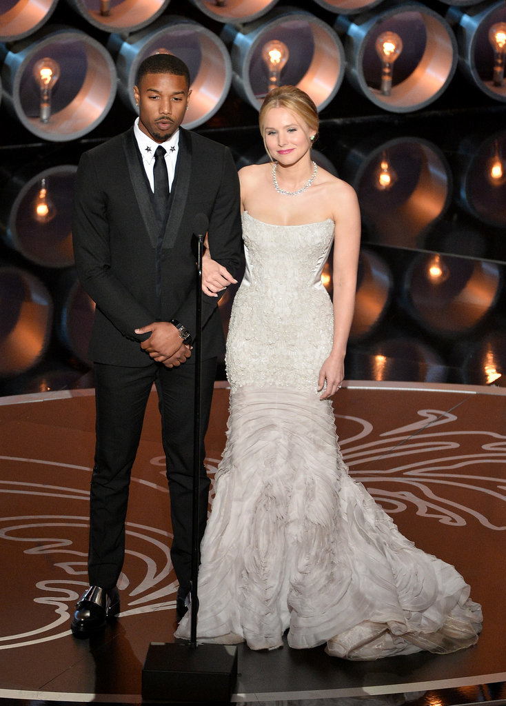 Kristen Bell and Michael B. Jordan presented together.