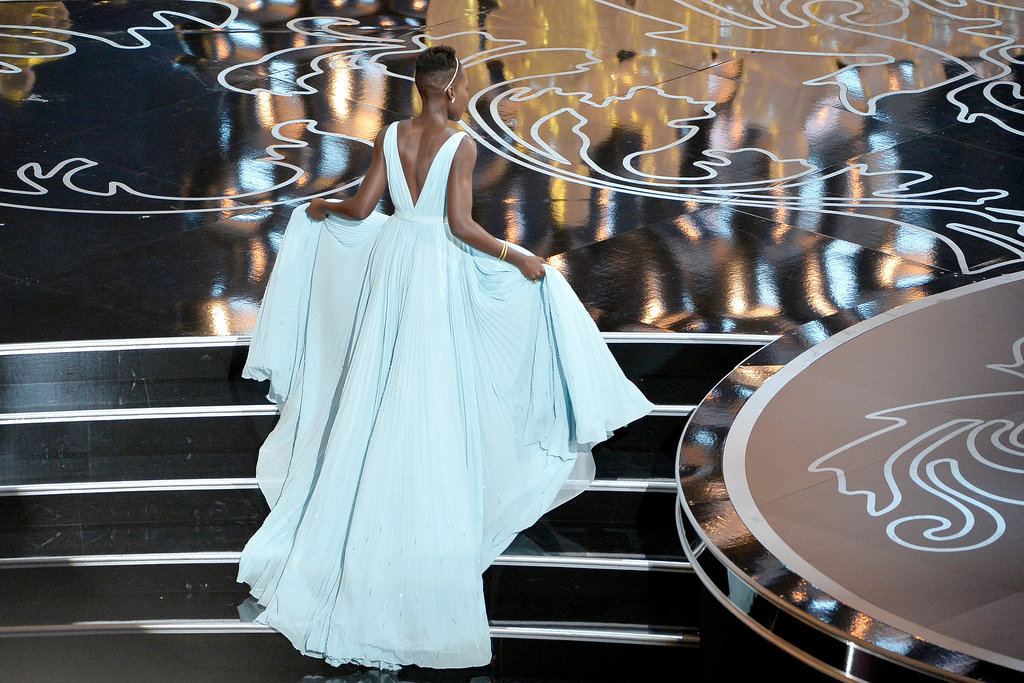 Lupita Nyong'o didn't pull a Jennifer Lawrence when she accepted her award.