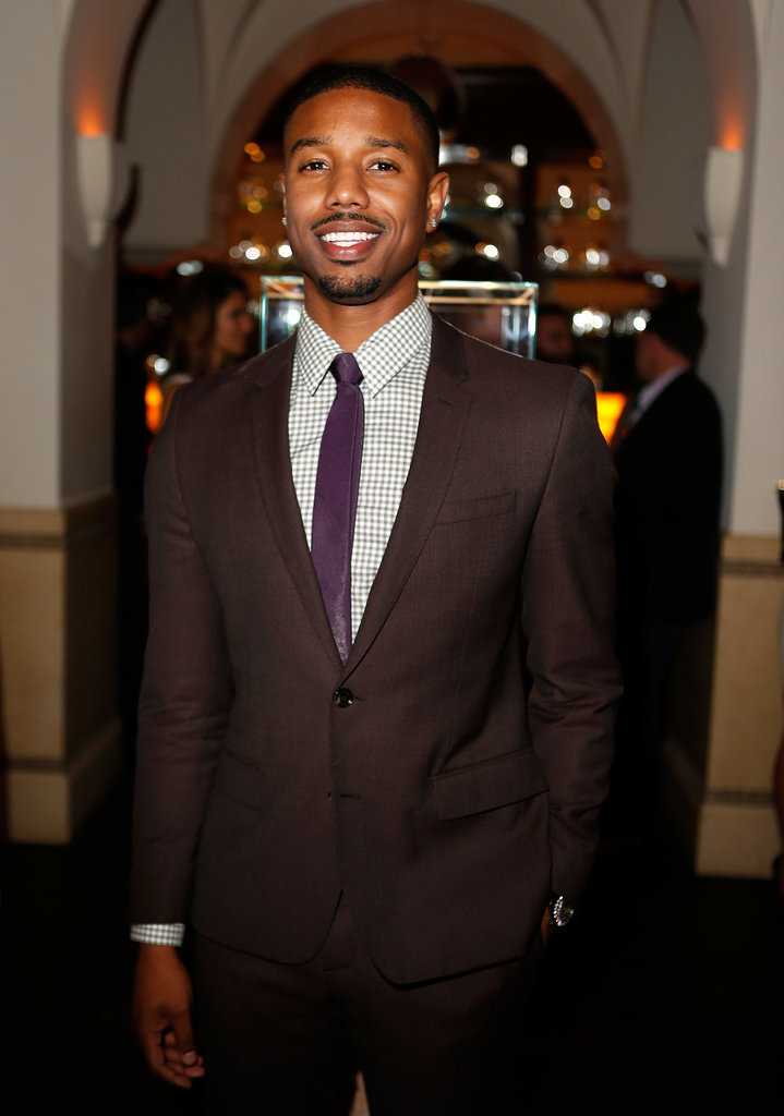 Michael B. Jordan flashed his winning smile.