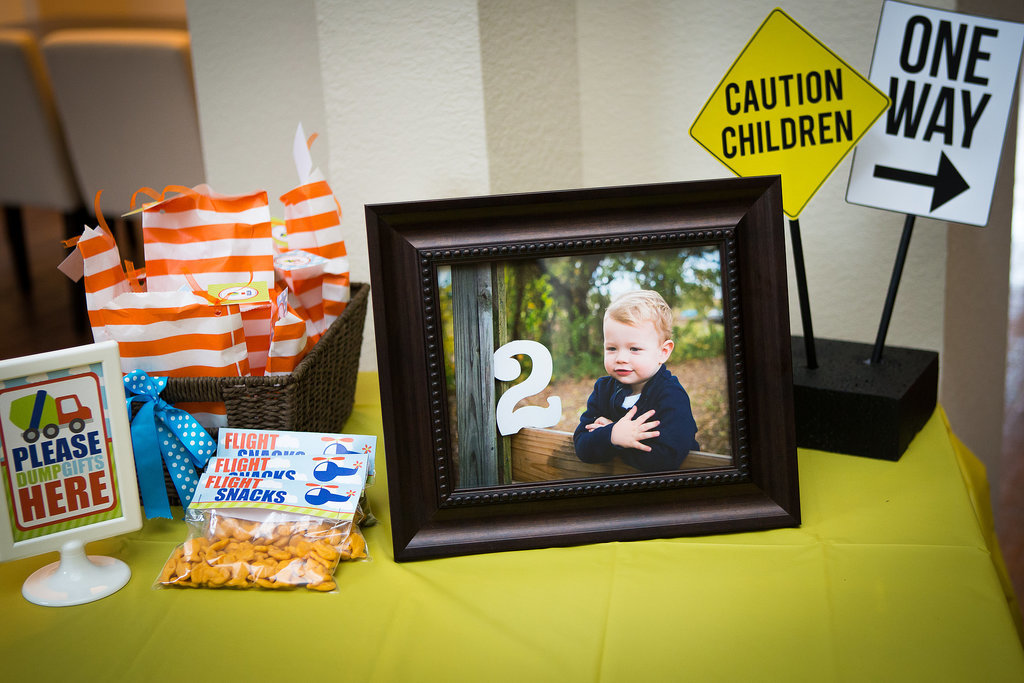 Framed Photographs on the Favor Table