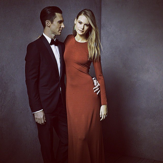 Adam Levine and Behati Prinsloo were as sexy as ever.  Source: Instagram user vanityfair