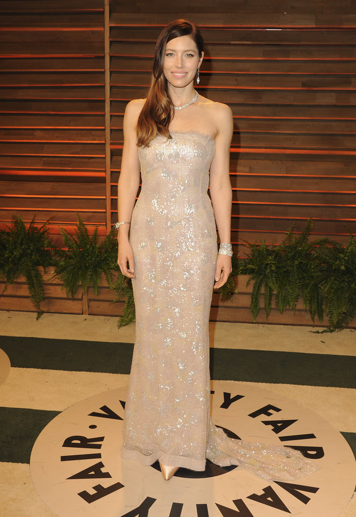 Jessica Biel was all sparkles.
