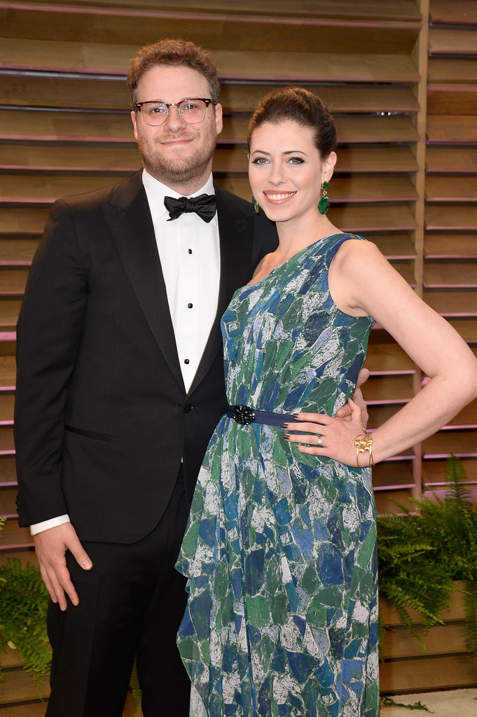 Seth Rogen and Lauren Miller stepped out for the Vanity Fair Oscars party.