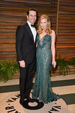 Jon Hamm and Jennifer Westfeldt linked up for photos at the Vanity Fair Oscars party.