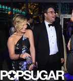 Amy Poehler and Seth Rogen shared a laugh.