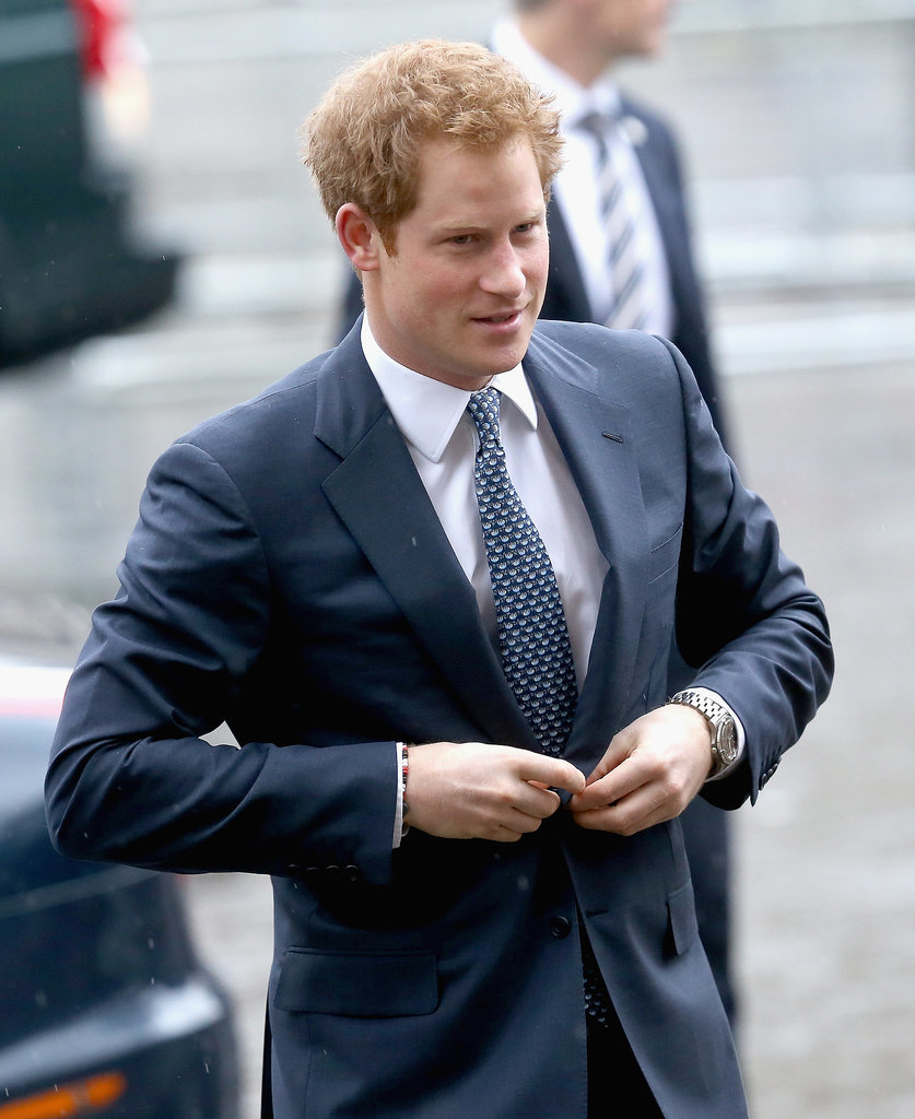 Prince Harry represented the British royal family at the National Service of Thanksgiving.