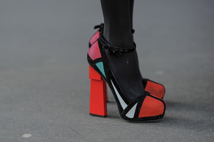 These colorblock platforms command attention.  Source: Gorunway.com/Matteo Catena