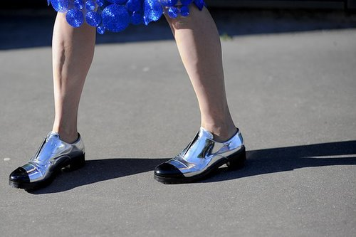 These metallic oxfords are total statement makers.  Source: Gorunway.com/Matteo Catena