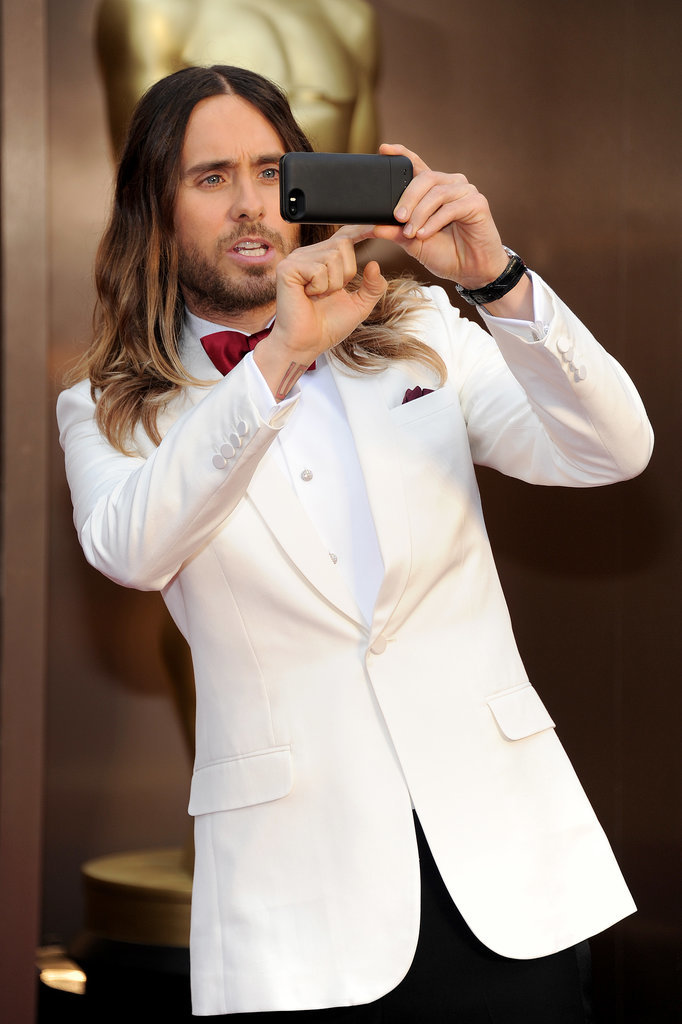 Jared Leto captured the Oscars crowd from the red carpet on his iPhone.