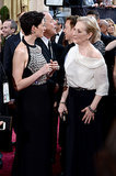 It was a Devil Wears Prada reunion when Anne Hathaway and Meryl Streep met up on the red carpet.