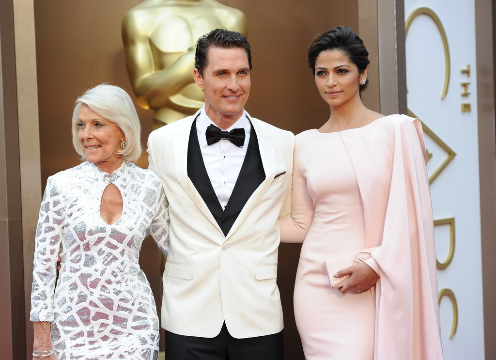Matthew McConaughey had two beautiful ladies by his side when he took home the best actor Oscar: his wife, Camila Alves, and his mom, Mary.