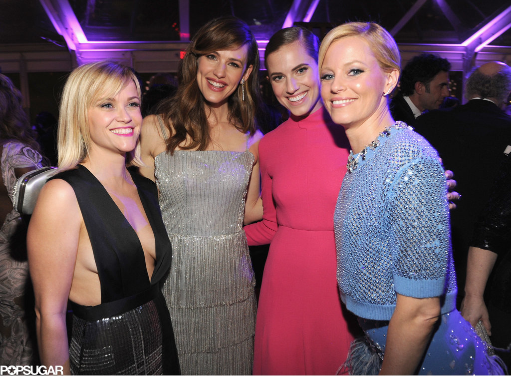 Reese Witherspoon, Jennifer Garner, Allison Williams, and Elizabeth Banks partied at the Vanity Fair Oscars bash.